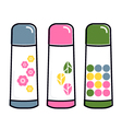 Retro thermos collection vector