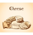 Cheese sketch poster vector