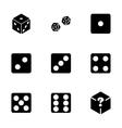 Dice icon set vector