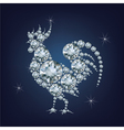 New year 2017 creative greeting card with rooster vector