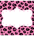 Leopard retro frame vector