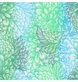 Seamless floral gradient doodle patte vector