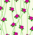 Seamless background with flower roses vector