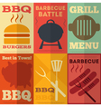 Barbecue posters vector