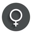 Female sign icon woman sex button vector