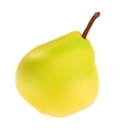 Green pear isolated on white background vector
