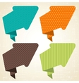 Origami background banner and speech bubbles vector