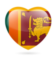 Heart icon of sri lanka vector