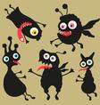 Happy monsters - set 8 vector