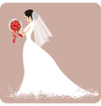 Weddingbride with rose vector