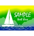 Brazil summer color background with yacht vector