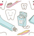 Seamless of teeth care vector