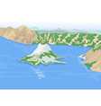 Crater lakes vector