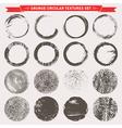 Grunge circular textures vector