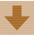 Down arrow flat modern web button and space for vector