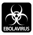 Ebola virus icon vector
