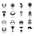 Award icons set black vector