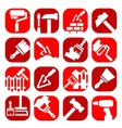 Color construction and repair icons vector