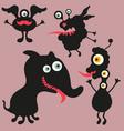 Happy monsters - set 9 vector