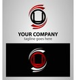 Alphabet symbols and elements of letter u logo vector