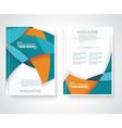 Geometric design business brochures magazines vector