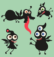 Happy monsters - set 10 vector