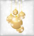 Balls gold back vector