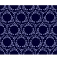 Seamless wallpaper background vintage blue black vector
