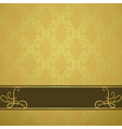 Golden background with a brown board vector