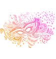 Elegant sketched with carnival mask vector