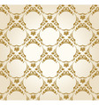 Seamless wallpaper background vintage gold vector