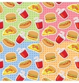 Patterns with fast food vector