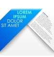 Blue paper origami banner vector