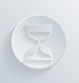 Circle icon with a shadow hourglass waiting vector