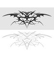 Dragon tattoo silhouette vector