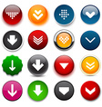 Round color download icons vector