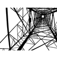 Abstract electrical tower vector