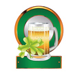 Beer and clover vector