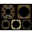 Gold floral vintage frames - set vector