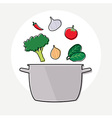 Food ingredient and pot vector