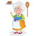 Grandma cooking vector