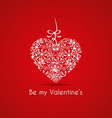 Valentines card with a gift vector