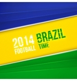 Abstract geometric background with brazil flag vector
