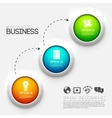 Business infographic design background concept vector