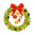 Christmas wreath for winter holydays designs vector