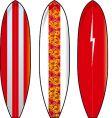 Long boards vector
