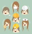 Popular job asean economics community aec cartoon vector
