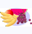 Healthy food of sweet fruit vector