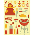 Barbecue collection vector