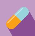 Capsule medicine icon vector
